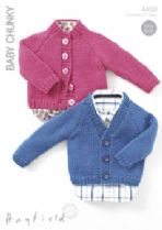 Hayfield Baby Chunky - 4400 Cardigans Knitting Pattern